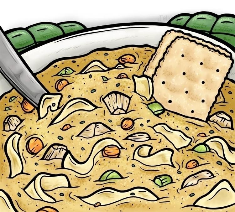 sick week chicken noodle soup s - jellysoupstudios | ello