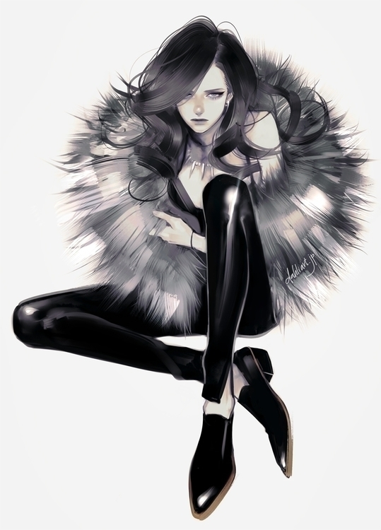 Fur - fashion, fashionillustration - dahliart | ello