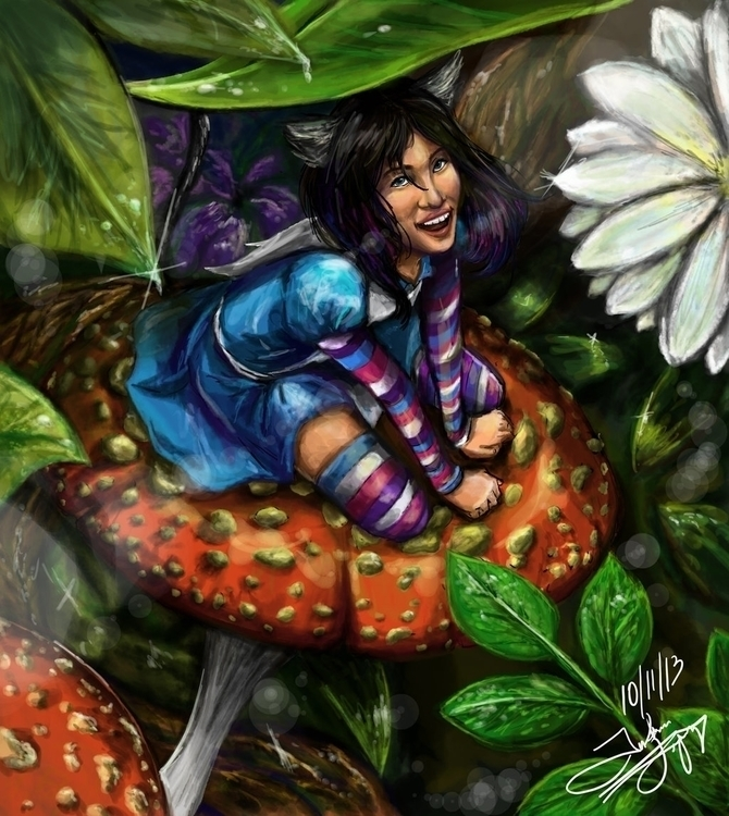 Ellie Wonderland - wonderland, mushroom - fishfranqz | ello