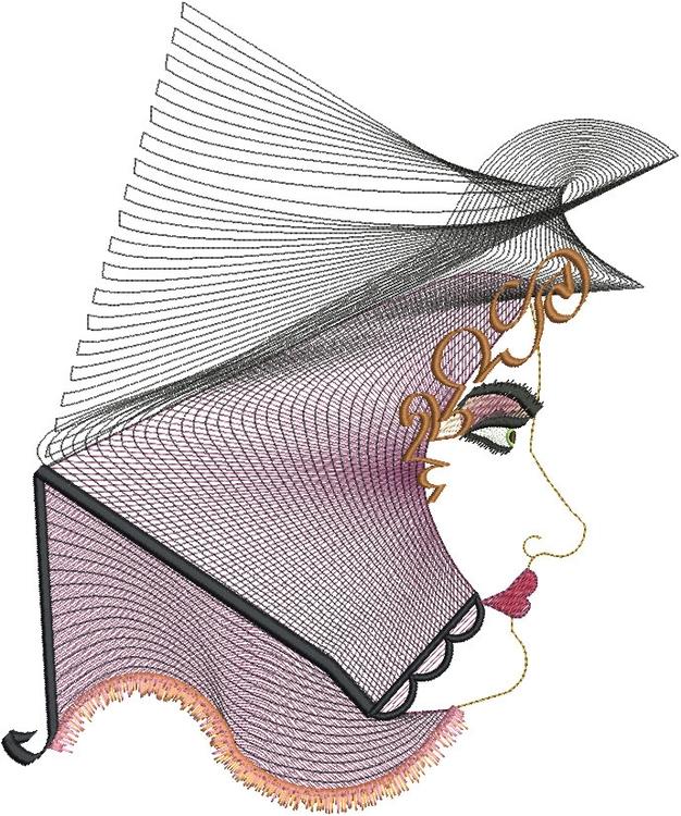 Parliament woman - embroidery, printdesign - esn-3951 | ello