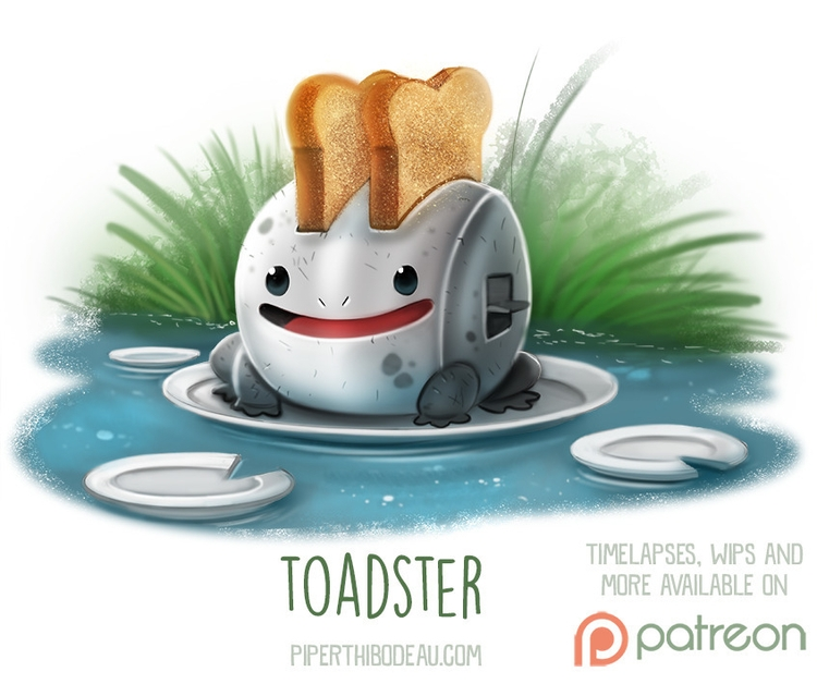 Daily Paint 1524. Toadster - piperthibodeau | ello