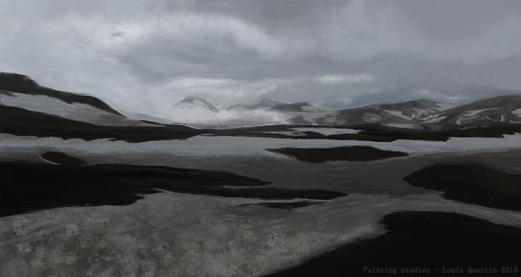 1 hour painting - Iceland - landscape - ultrasqull | ello