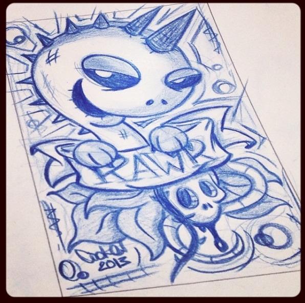 Rawr - dinosaur, cute, character - inkedsloth | ello