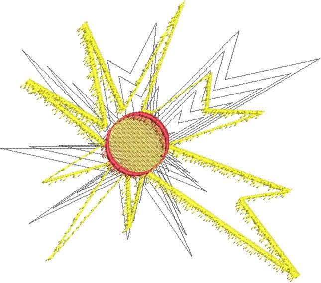 Planet blast3 - stars, embroidery - esn-3951 | ello