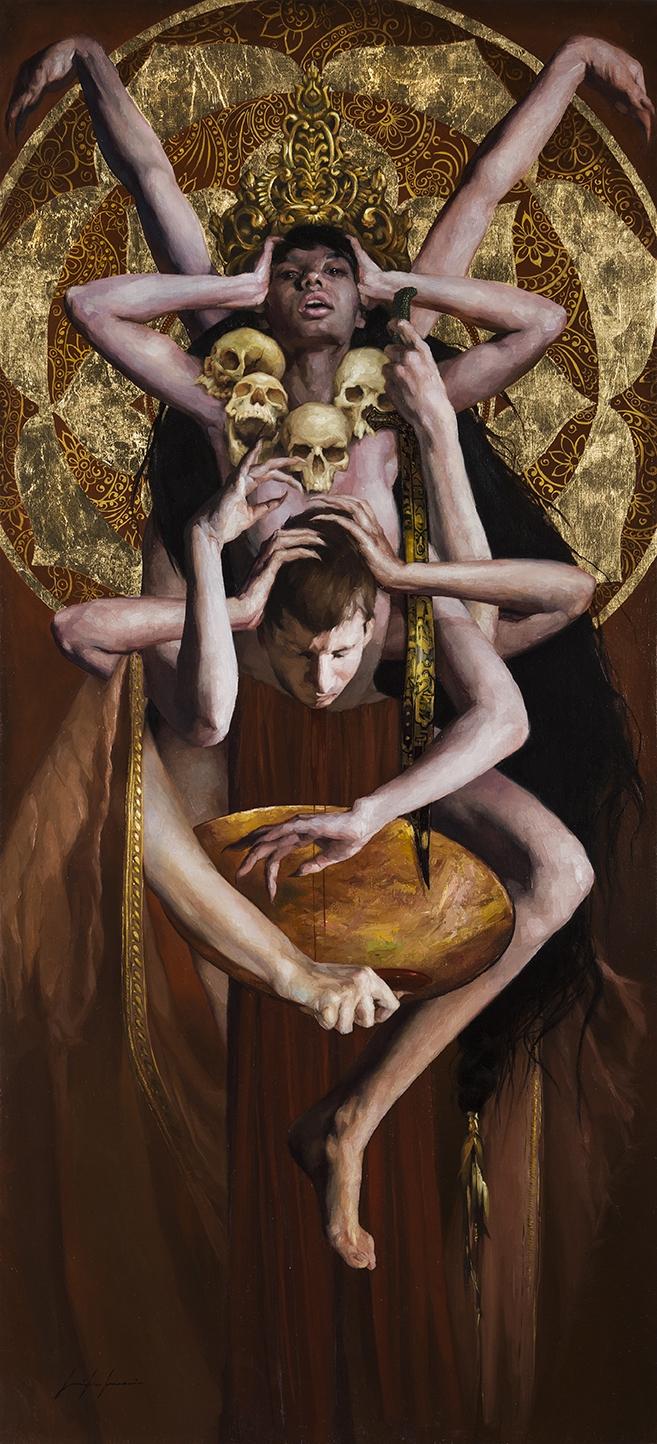 Kali - buddhism, oilpainting, fineart - jen_art | ello