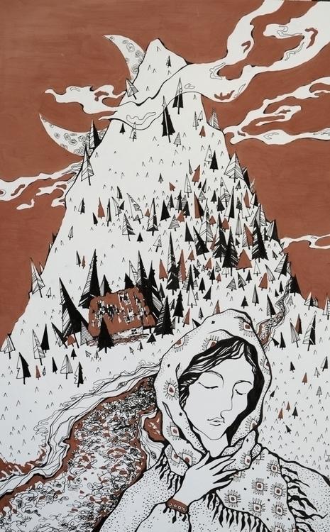 illustration, painting, drawing - odarkaluhihi | ello