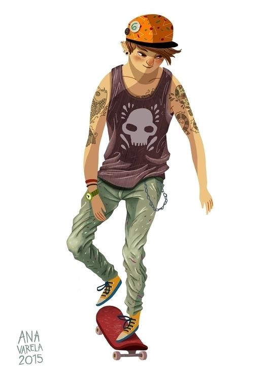 anavarela, boy, skater, sketch - anavarela | ello