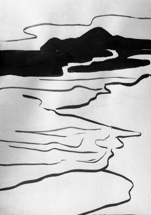 sea - paper, ink - mariakostareva | ello
