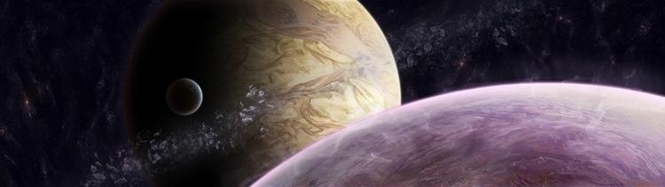 space, planets, mattepainting - lisaayla | ello