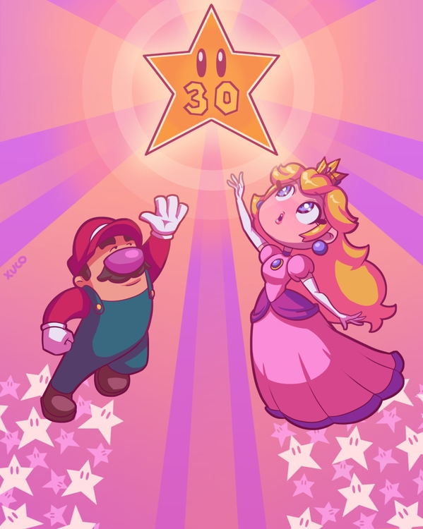 30 Years Mario - illustration, supermario - xuco | ello