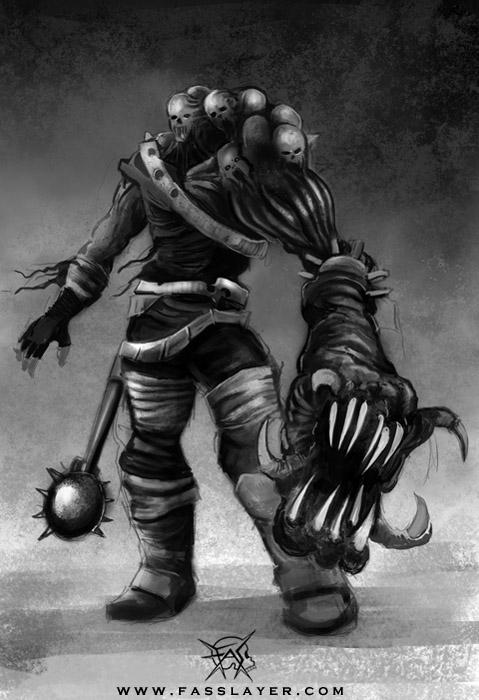 digital illustration monster - painting - fasslayer | ello