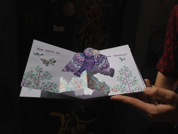 Squirell Bunny - illustration, popup - odarkaluhihi | ello
