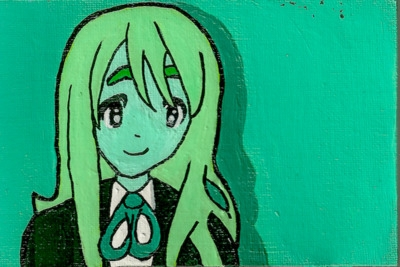 4x6 mini canvas Mugi-chan paint - ashleywilliams-1156 | ello