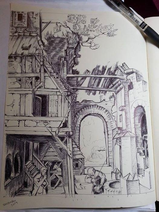 pen, drawing, draw, illustration - artolgash   ello