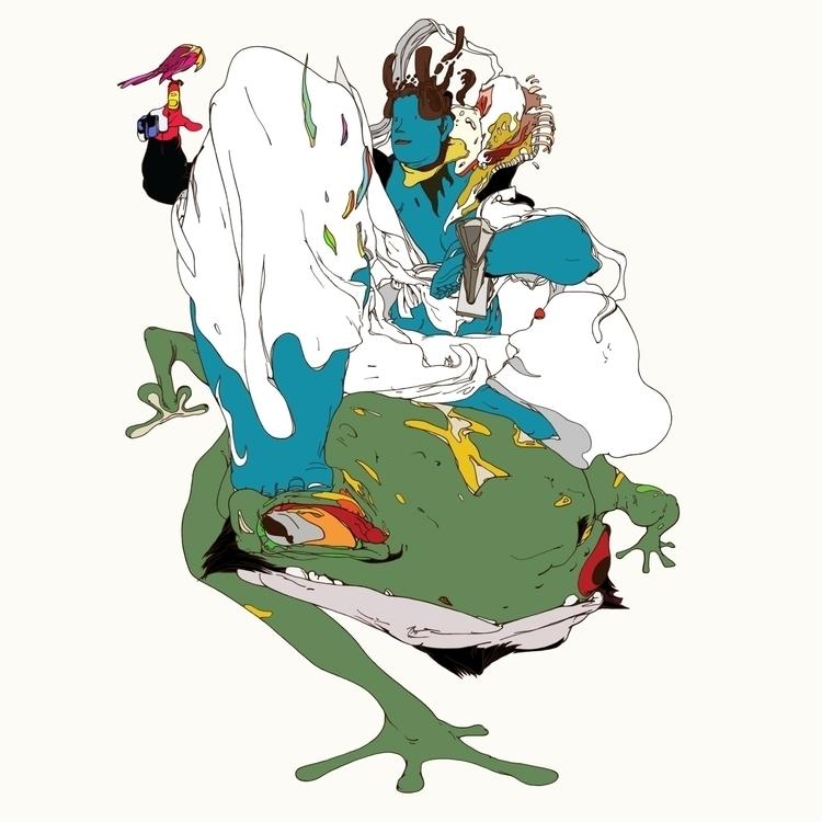YAMATOTAKERU - bird, frog, man, sword - kasiminami | ello