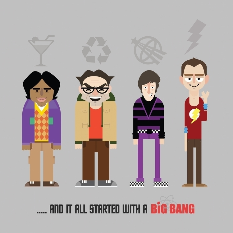 Big Bang Theory Art Print - illustration - garyralphsdesign | ello