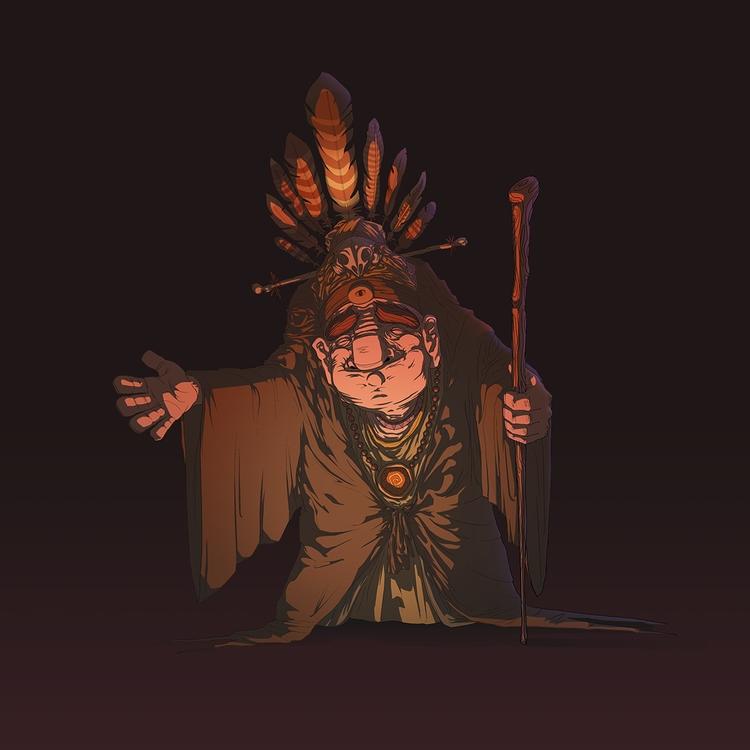 Shaman - illustration, characterdesign - geberluis | ello