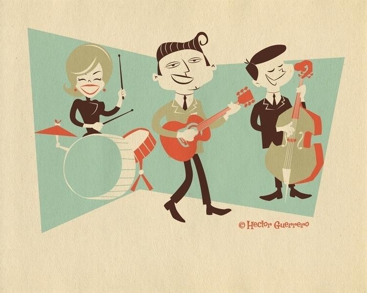 Rockabilly Band - grasshopperhilldesign# - apeles | ello