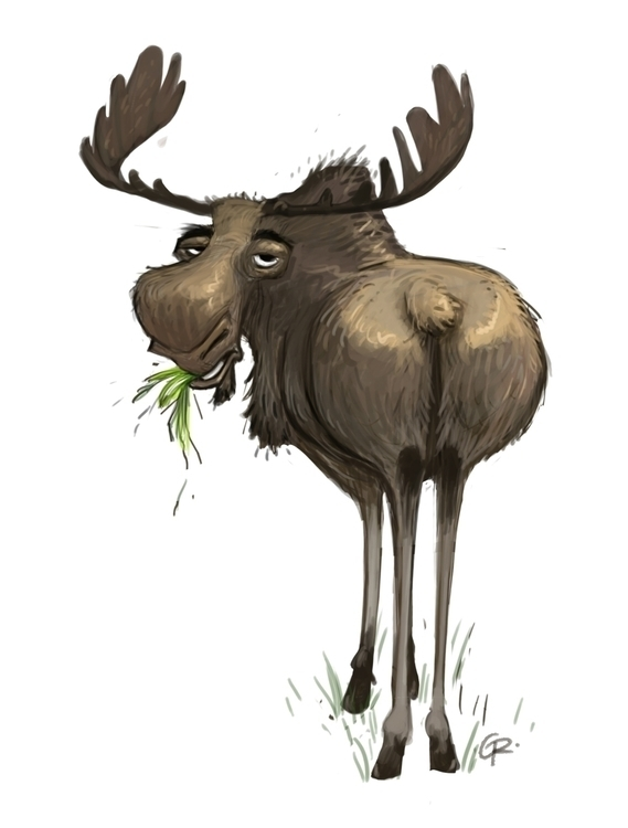 Moose - moose, characterdesign, animal - gramirez-5022 | ello