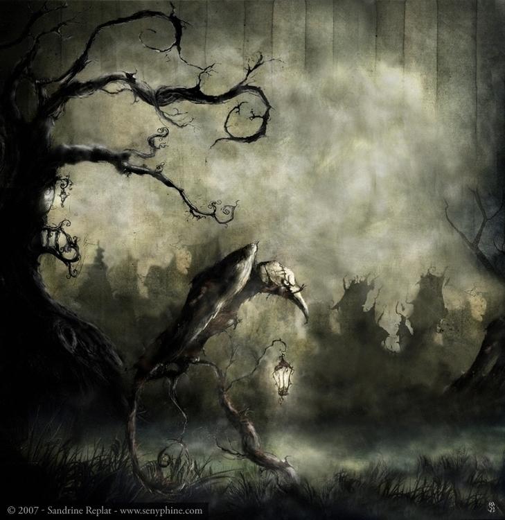 llustration inspired poem Raven - senyphine | ello