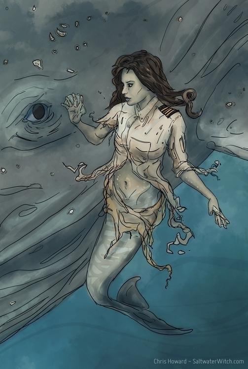 Mermaid cetacean friend - mermaid - chrishoward | ello