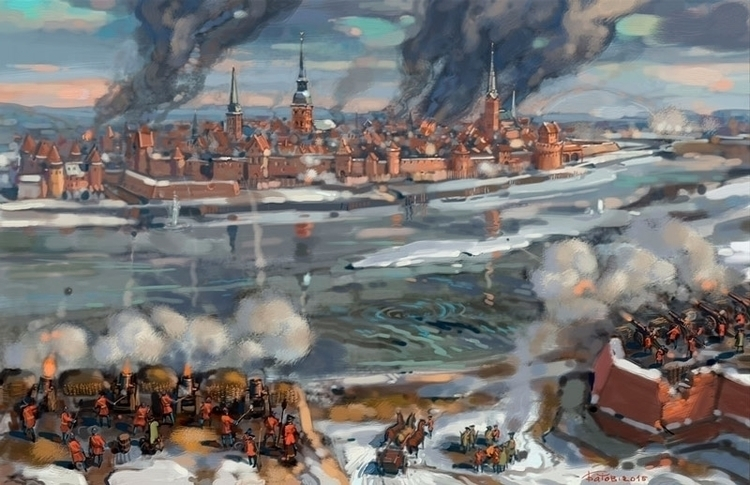 siege Riga 1710 - riga, war - art_bat | ello