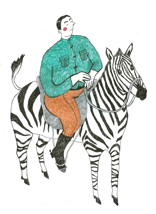 Zebra - zebra, illustration, painting - tasyavasilkova | ello