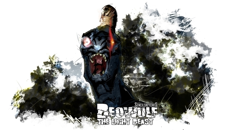 Beowulf Light Beast - beowulf, devilmaycry - sencilsketches | ello