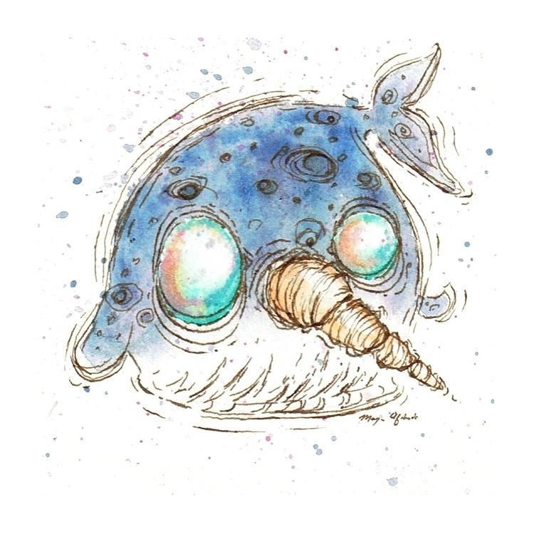 Narwhal - illustration, children'sillustration - morganofsharick | ello