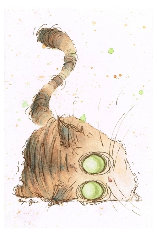 Tigger (cat - illustration, watercolor - morganofsharick | ello