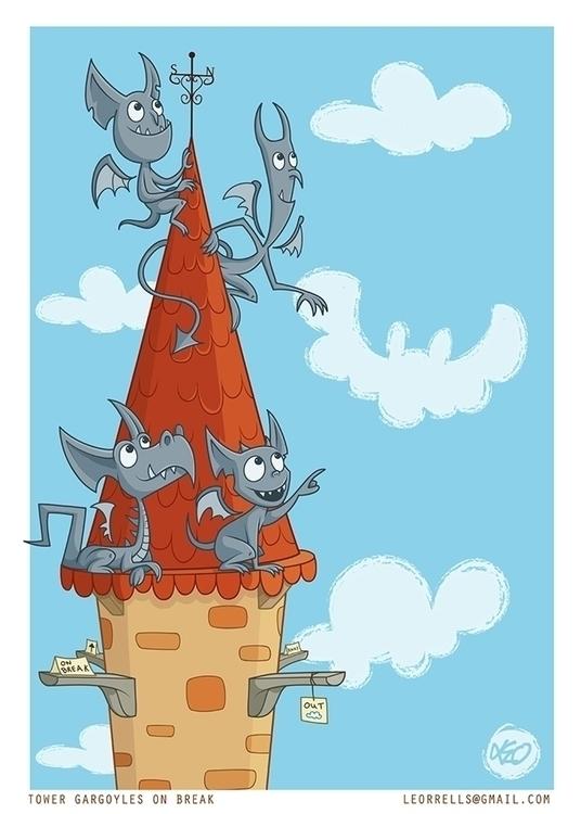 Tower Gargoyles - leo-4782 | ello