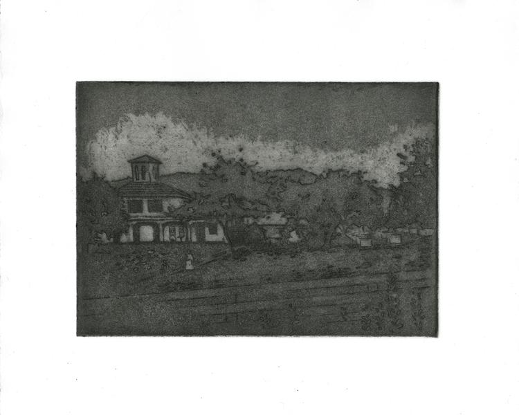 Brushville - printmaking, etching - morganofsharick   ello