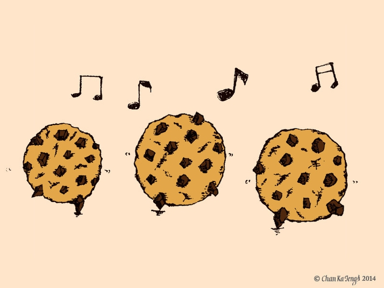 food happy - illustration, cookies - chankaieng | ello