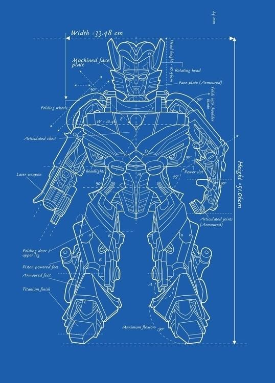 Transformer Blueprint - VectorArt - vantage-9372 | ello