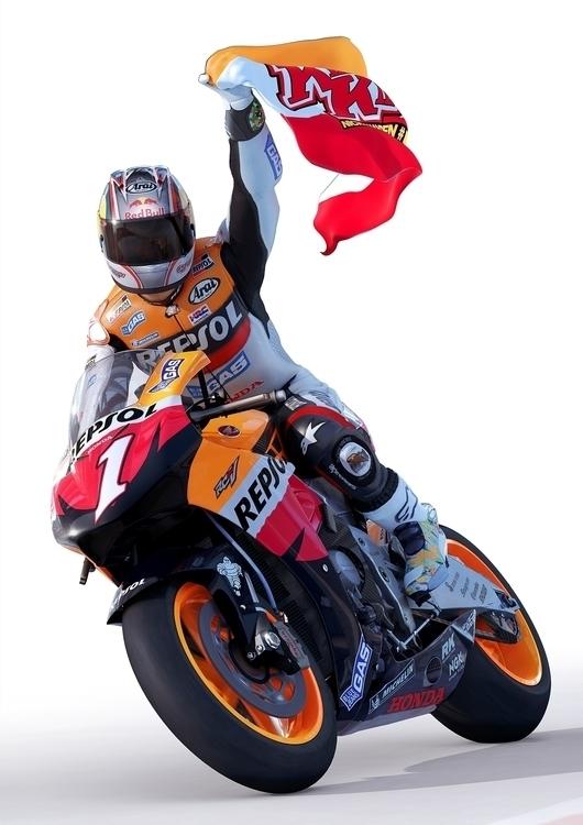 Moto GP 07 Key Art Nicky Hayden - bmcaff | ello