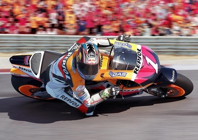 Moto GP Promo Art - motorcycle, racing - bmcaff | ello