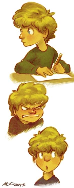 boy, expressions, study, children'sillustration - mhaus | ello