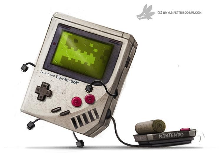 Daily Painting 905# Nintendo Ga - piperthibodeau | ello