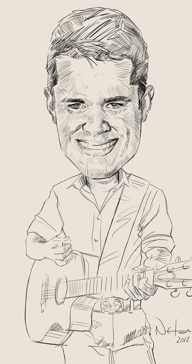Caricatura Wesley Pimenta lapis - netim | ello