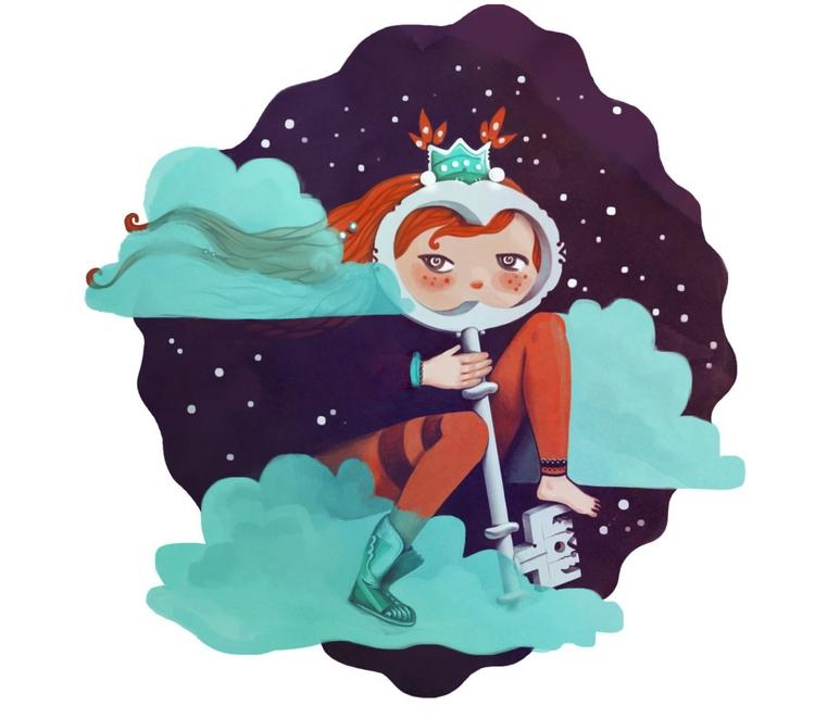 illustration, girl, digitalart - hova-4150 | ello