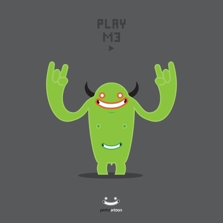 monster, simple, green, pedroartoon - pedroartoon | ello
