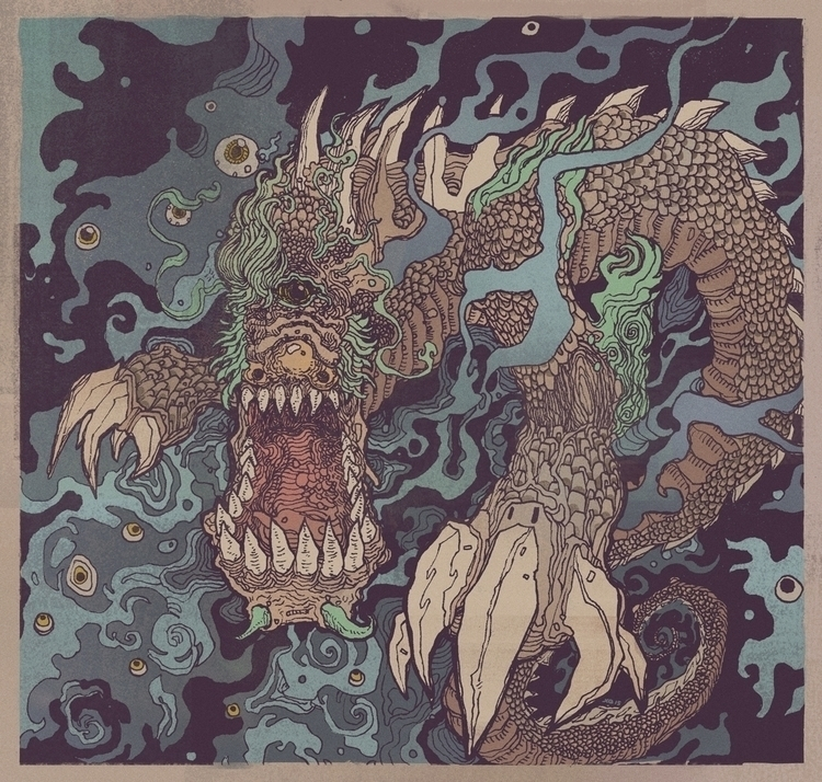 Cooper Cyclops Dragon - illustration - xuanquyen | ello