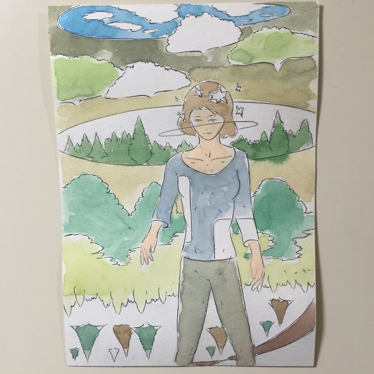 05/01/2016 - drawing, watercolor - yusukesugiyama   ello