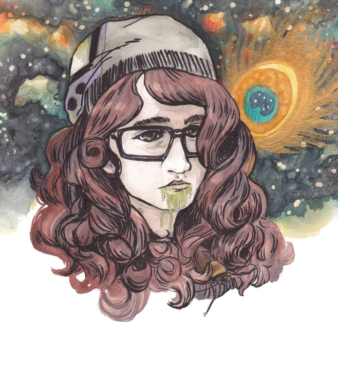Portrait - watercolor, watercolour - professorbees | ello