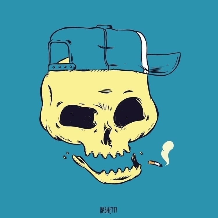 SKULL2 - illustration, illustrator - rashetti | ello
