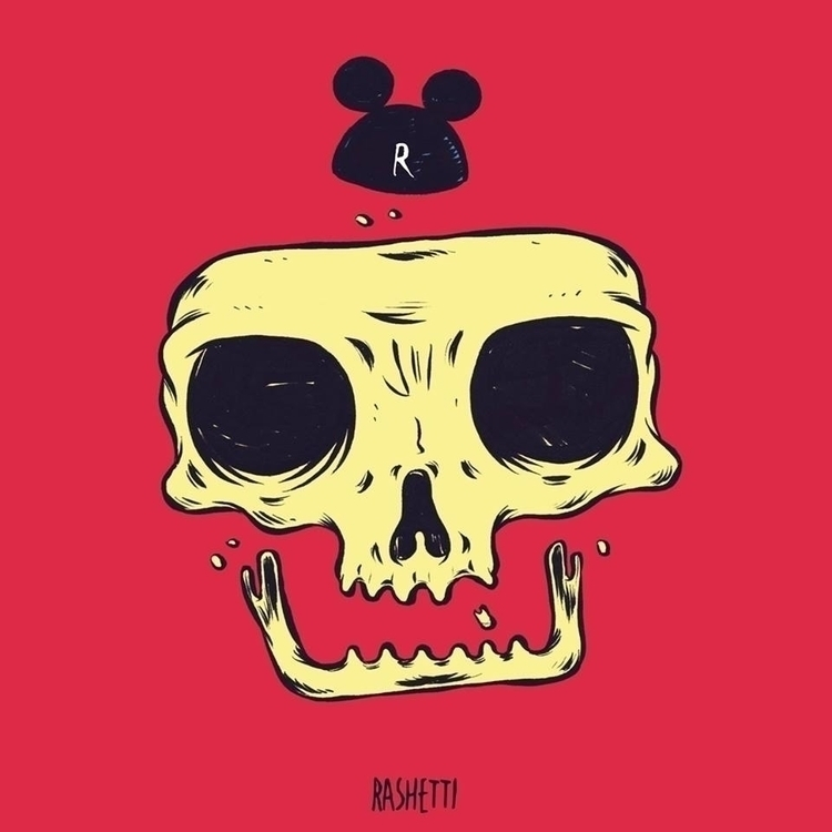 SKULL3 - art, artwork, sketchbook - rashetti | ello