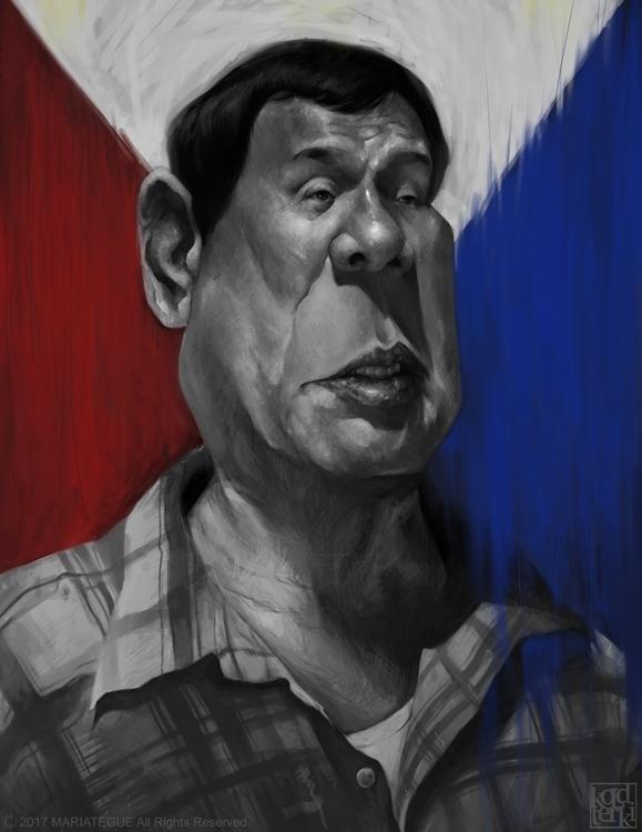Rodrigo Duterte -Caricature - koldterki   ello