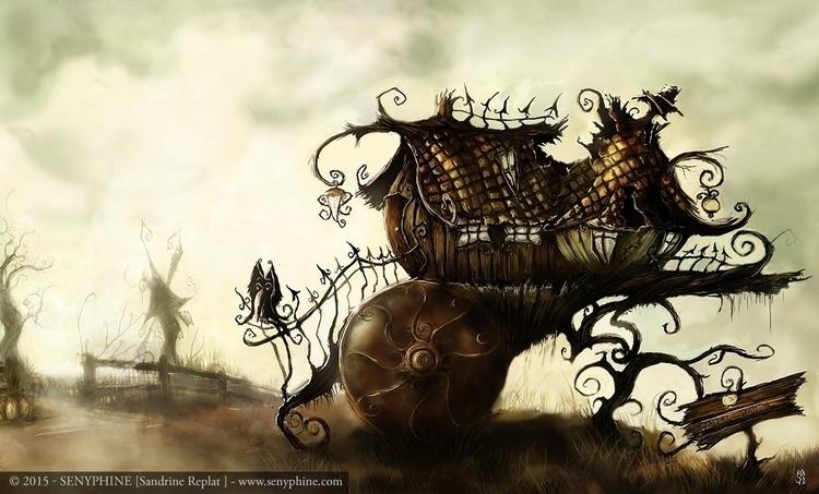 Path - digitalart, fantasyillustration - senyphine   ello
