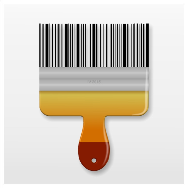 Bar-code Brush - illustration, cartoon - igor01 | ello
