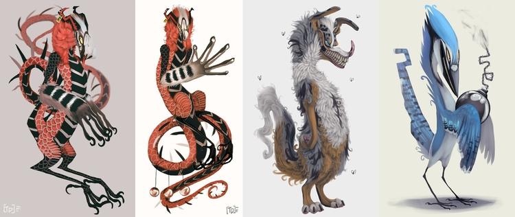 cartoon sketches - animals, digitalart - mozakade   ello